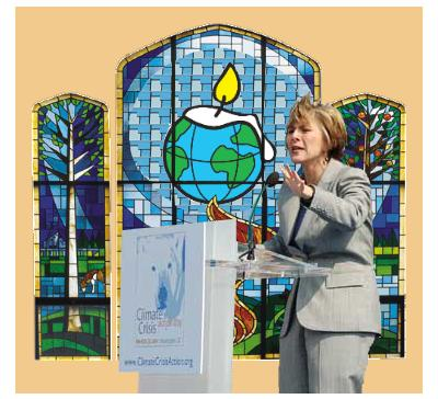 Boxer Preaches Global Warming Religion