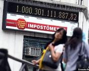 A Associação Comercial de São Paulo ( ACSP) registra recorde de mais de 1 trilhão de reais arrecadados desde o primeiro dia do ano , em impostos federais, estaduais e municipais. FOTO ERNESTO RODRIGUES/AE.