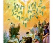 Keynes, distribuindo  dinheiro