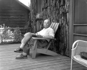 Mises at cabin