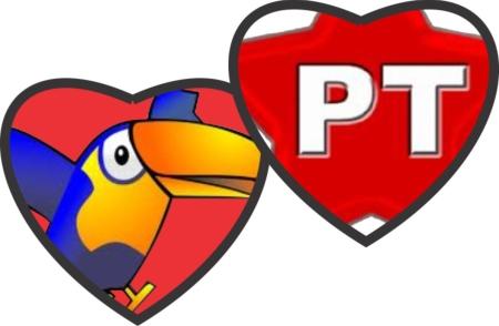 PT e PSDB in love