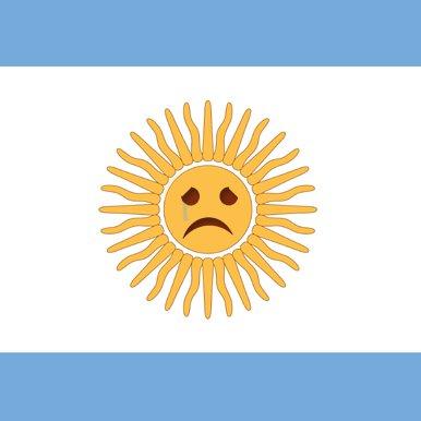 bandera  argentina llorando