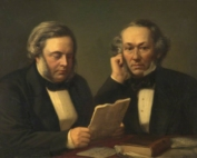 Fagnani, Giuseppe, 1819-1873; John Bright (1811-1889), and Richard Cobden (1804-1865)